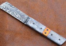 Taschenmesser TIRAF von Thomas Fleury, Giraffenknochen, Damast, brillant