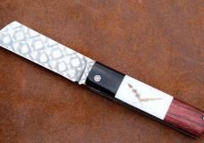 Taschenmesser TOBONY von Thomas Fleury, Ebenholz/Waldschnepfe/Palisander, Damast, brillant